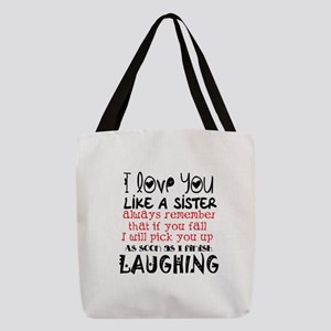 like a sis Polyester Tote Bag