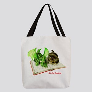 RisforReading10x10 Polyester Tote Bag