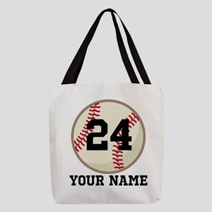 Personalized Baseball Sports Polyester Tote Bag