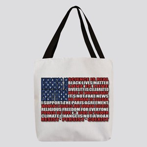 Political Protest American Flag Polyester Tote Bag