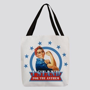 Stand For the Anthem Rosie Polyester Tote Bag