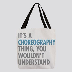Choreography Polyester Tote Bag