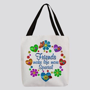 Friends Make Life More Special Polyester Tote Bag