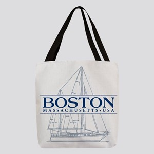 Boston Sailboat Polyester Tote Bag