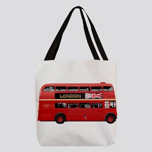 London Red Bus Polyester Tote Bag