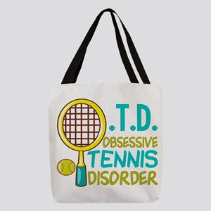 Funny Tennis Polyester Tote Bag