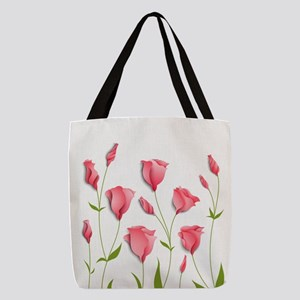 Pretty Flowers Polyester Tote Bag