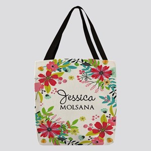 Painted Floral Personalized Monogram Polyester Tot