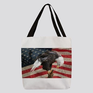 United States of America prayer Polyester Tote Bag