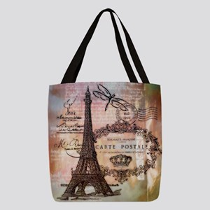 Eiffel tower collage Polyester Tote Bag
