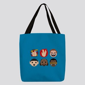 Star Trek Faces and Symbols Polyester Tote Bag