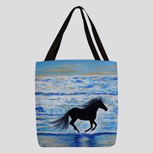 Running Free by the Sea 2 Polyester Tote Bag