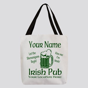 Custom Irish pub Polyester Tote Bag