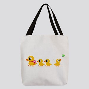 ducklings_row Polyester Tote Bag