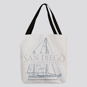 San Diego sailboat Polyester Tote Bag