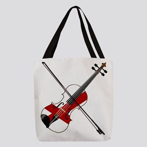 Alabama State Fiddle Polyester Tote Bag