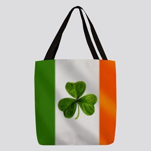 Irish Shamrock Flag Polyester Tote Bag