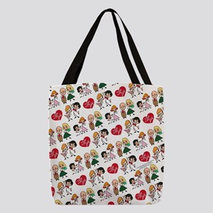 I Love Lucy Character Stick Fig Polyester Tote Bag