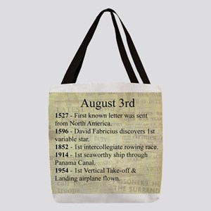 August 3rd Polyester Tote Bag