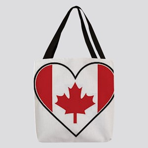Canadian heart flag Polyester Tote Bag