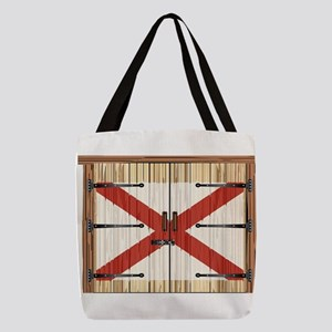 Closed Barn Door With Alabama S Polyester Tote Bag