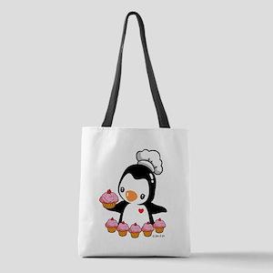 Bake a Cupcake Polyester Tote Bag