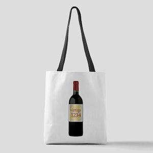 Custom Vintage Wine Polyester Tote Bag