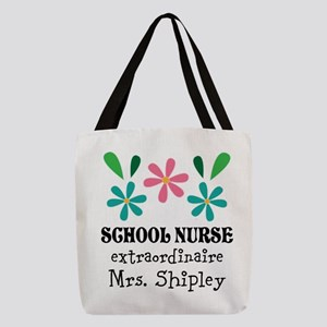 School Nurse Personalized Gift Polyester Tote Bag