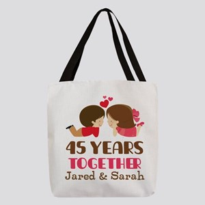 45th Anniversary Personalized Gift Polyester Tote