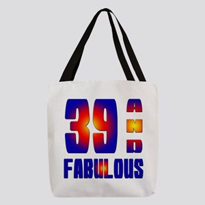39 And Fabulous Birthday Design Polyester Tote Bag