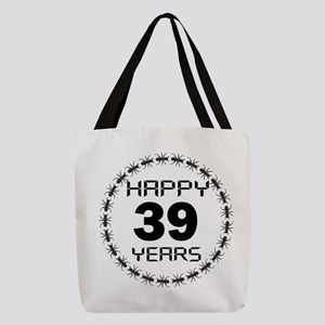 Happy Years 39 Birthday Designs Polyester Tote Bag