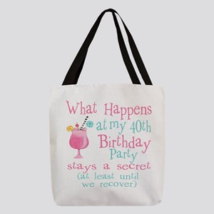 40th Birthday Party Polyester Tote Bag