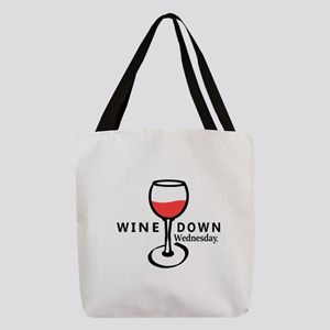 Wine Down Polyester Tote Bag