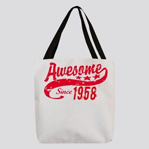 Awesome Since 1958 60 Years Old Polyester Tote Bag