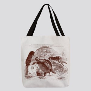 Tortoise and the Hare Polyester Tote Bag