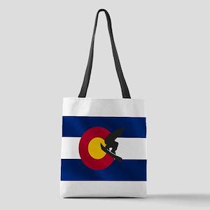 Colorado Snowboard Flag Polyester Tote Bag