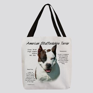 AmStaff Terrier Polyester Tote Bag