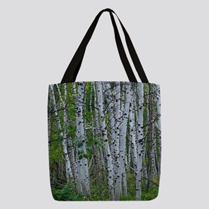 Thick Aspen grove Polyester Tote Bag