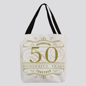 Celebrating 50th Anniversary Polyester Tote Bag