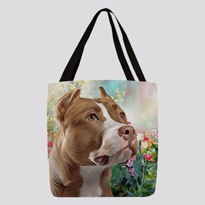 Pit Bull Painting Polyester Tote Bag