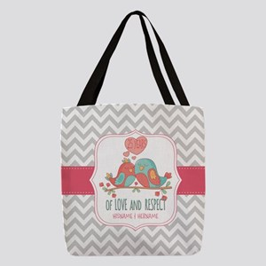 Create Personalized Anniversary Polyester Tote Bag