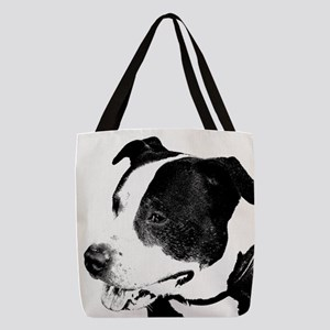 american staffordshire terrier art Polyester Tote