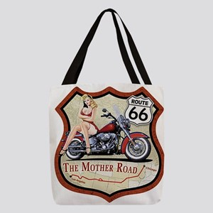 Route 66 The Mother Road Polyester Tote Bag