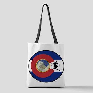 COLORADO SKI TIME Polyester Tote Bag
