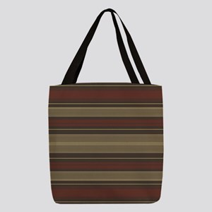 Mid Century Modern Stripes Polyester Tote Bag