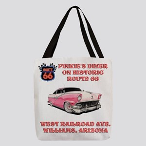 Pinkies Diner Polyester Tote Bag