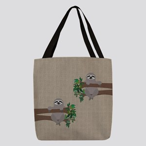Sloth Polyester Tote Bag