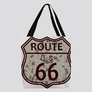Weathered Route 66 Sign Polyester Tote Bag