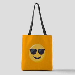 Sunglasses Emoji Polyester Tote Bag