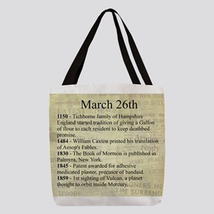 March 26th Polyester Tote Bag